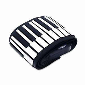 Feixunfan Roll Up Piano 88 Touches Piano électronique roulées à la Main en Silicone Bluetooth Clavier Piano for Adulte débutant pour Enfant Jouet Adulte (Color : Black, Size : 88 Keys)