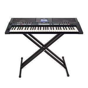 FEMOR SET pour Clavier Numérique avec Nupitre Clavier Numérique Piano pour Clavier et Banquette pour Clavier Pro Stand (Stand Clavier)