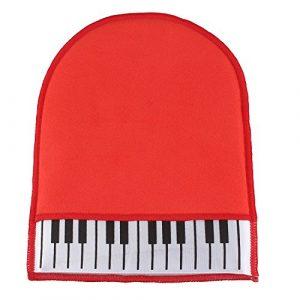 Gant Chiffon Nettoyage Dépoussiérant Maintenance Piano Pièces Instrument de Musique Rouge