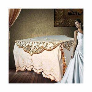 G-AO Couverture cour de style européen de style piano à queue, une couverture complète du clavier suède, décoration de meubles de style européen, super luxueux couverture d'instruments de musique