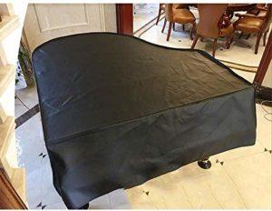 G-AO housse noir piano couverture piano à queue PU épaisseur grande couverture piano housse cadre en tissu (taille: 170cm) (Size : 210cm)