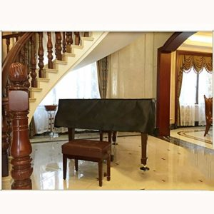 G-AO PU épais couvercle piano noir piano couverture clavier cache anti-poussière de tissu de protection contre la poussière couverture piano couverture piano (taille: 160 cm) (Size : 210cm)