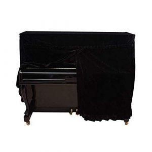 G-AO Zone piano droit couverture complète, couverture du clavier, avec de la dentelle, piano droit universel, les modèles spéciaux sont libres de personnaliser (couleur: noir, taille: 155x38x127cm + 3