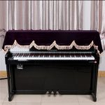 gazechimp Clavier Piano Couverture 88 Touche Décoré Durable Doux Accessoire Instrument – Violet