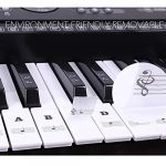 HATCHMATIC 54/61 Clés Étiquette PVC amovible Stave Decal Sticker Remarque Biginners Clavier de piano: coloré