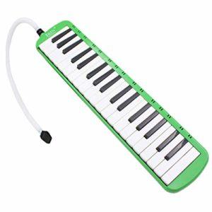 HEALLILY Instrument de Piano Mélodique à 37 Touches avec Tube D'embouchure Et Étui Souple pour Les Mélomanes Débutants (Vert)