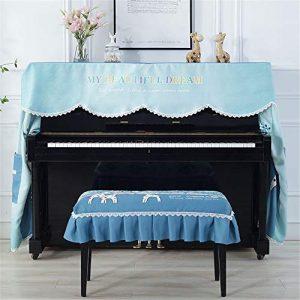 Housse de Protection Contre la poussière pour Piano Droit – Résistant à la poussière – Tissu Respirant – 148-155 cm – Universel pour Pianos verticaux Standard, Tissu, a, Small