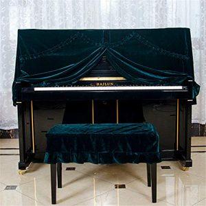 Housse de Protection pour Piano en Velours doré épais et résistant à la poussière en Velours pour Piano Simple 148-153 cm Universelle pour Pianos verticaux Standard, Tissu, a, Small