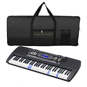 Housse étui Sac de protection pour Synthétiseur 61 touches Sac de clavier électronique Piano électrique ElectronicKeyboardPack Noir
