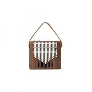 HUIJUNWENTI Piano Kalimba 17 touches, fait de noyer pur, beau ton, facile à transporter et facile à apprendre, (Color : Wood color)