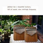 Instrument De Musique Kalimba 17 CléS Pour Piano, Noyer/éPicéA De Haute Qualité, Cadeau Du Festival De NoëL De Mbira Pour Camarade DéButant Avec Accessoires Complets,Walnut
