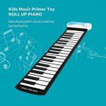JKYQ Piano Roll Main 49 clés Pianos numériques Pratique Jouets éducatifs pour Adultes Contact Simulation Pliable épais et Durable