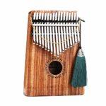 Kalimba Mbira 17 Touches Piano Piano Dalbergia/Or Instrument De Qualité Professionnelle En Bois De Santal Rouge Avec Accessoires Complets Pour Adulte Musician Festival Gift Commemorate,Dalbergia-A