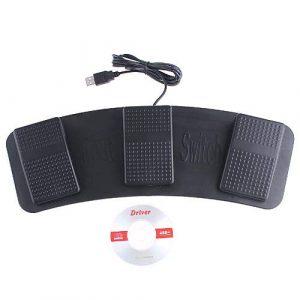 kkmoon 3touches Noir Neuf USB PC HID Interrupteur pédale pied Bouton poussoir Pied Pédale FOOT SWITCH