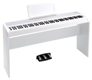 Korg b1spwh Concert de Piano « Slim Line 8 sons, speaker System avec Technologie motional Feedback