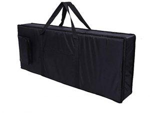 Lawei Sac de clavier 61 Touches Portable Padded Case Housse Tissu Oxford étui pour Clavier Piano électrique – 100 x 40 x 15 cm, Noir