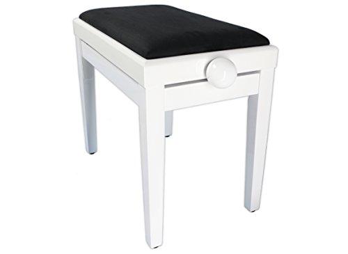 Legato réglable en hauteur siège rembourré banc de piano (blanc)