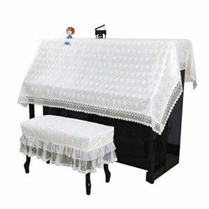LERDBT Sacs, et étuis Double Standard for antipoussière Vertical Piano Nordic Dentelle Piano Demi Universal Verticale Broderie Piano Serviette CoversMinimaliste Conception Universelle adaptée à