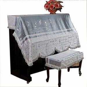 LERDBT Sacs, et étuis Tissu épais de Style européen Piano Pleine Cloth Couverture for Verticale Standard Piano Motif Musical Couverture Piano CoversMinimaliste Conception Universelle adaptée à