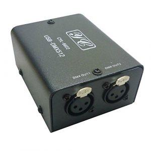 Liseng 512-canaux USB a DMX DMX512 LED lampe DMX-Stage eclairage controleur la lampe