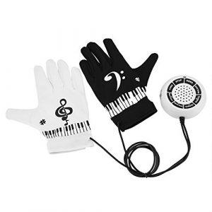 MAGT Gants de Piano, Électronique Main Musical Doigts Haut-Parleur Main Exercice Instrument Clavier Musical Jeu Cadeaux Jouets avec Contrôleur