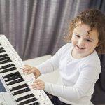 Matogle Autocollant Coloré pour Piano Sticker Auto-adhésif de Touches Noires et Blanches Note Transparent pour Enfant Débutant de Clavier 37,49,54,61,88 avec Chiffon d'Essuyage