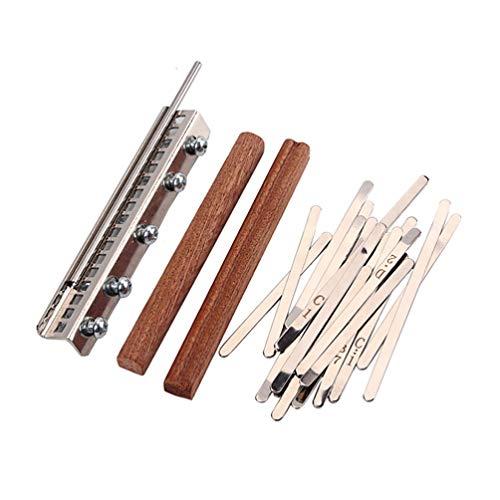 Milisten Kit de Remplacement de 17 Clés pour Bricolage Kalimba Mbira Thumb Piano Thumb Piano Pièces de Réparation