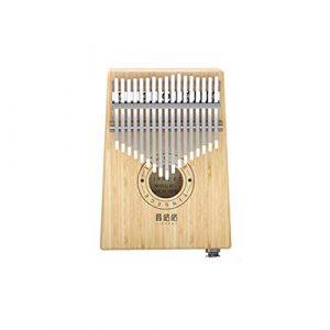Muziwenju Piano à clavier Kalimba 17 touches, en bambou pur, belle sonorité, facile à transporter, facile à apprendre, couleur bois, son original électro-acoustique, dernières nouveautés Bien fait