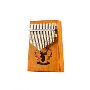 Muziwenju Piano Kalimba 17 touches, bois pur acacia, belle tonalité, facile à transporter et facile à apprendre, couleur bois bleu son original, dernières nouvelles Bien fait (Color : Light brown)