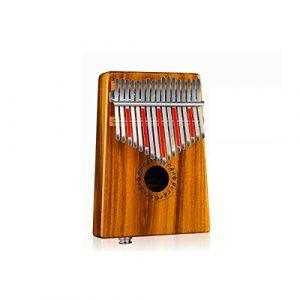 Muziwenju Piano Kalimba à 17 touches, bois pur acacia, beau ton, facile à transporter et facile à apprendre, couleur originale du son original Bien fait (Color : Wood color-17E)