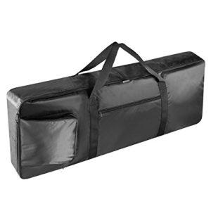 Neewer® Noir Portable Sac de transport rembourré pour Clavier 61touches avec poches latérales, poignées de transport et sangles de sac à dos réglable supplémentaire, fabriqué en nylon durable et imperméable
