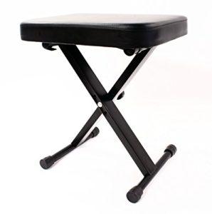 Noir 24 «60 cm, siège Extra large rétractable Tabouret Banc de clavier Hauteur réglable