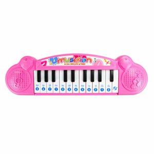NUOBESTY Enfants Clavier de Piano Portable Instrument de Musique Électronique Clavier Enseignement Jouets Cadeaux D'anniversaire (Rose)