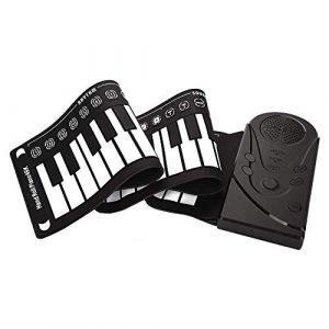 Piano Roll Main 49 clés Pianos numériques Portables Jouets éducatifs en Silicone Adulte Contact Simulation Pliable épais et Durable