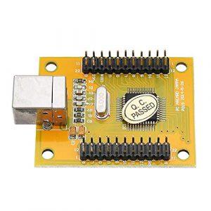 PKA Double joueur Acarde Game Controller Encoder Board avec câble pour PS3 PC