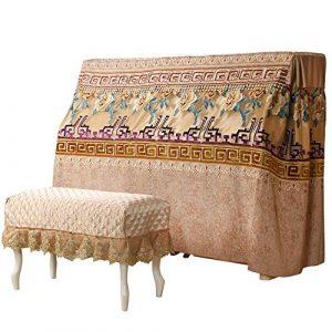 Pleine couverture de piano Zen chinois Piano complet Couverture Coton Lin Couverture Plaid Broderie poussière Protection élégante couverture en tissu Rhythm pour Universal Upright Vertical
