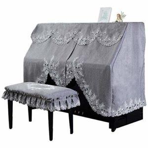 Sacs, et étuis Moderne Minimaliste Luxury Linen Texture Rideau comme Motif brodé de Dentelle Piano complète Demi-Couverture Serviette CoversMinimaliste Conception Universelle adaptée à