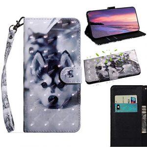 SHUYIT Coque Samsung Galaxy A50, Étui en 3D PU Cuir Flip Case de Protection Portefeuille Etui Cover Housse pour Samsung Galaxy A50 couleur Cas avec Stand Magnétique Fonction