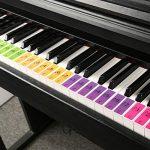 sokey Autocollants Amovibles de Piano Coloré, Autocollants Touches Piano pour 51/61/88 Touches de Piano, Autocollants pour Enfants Débutants