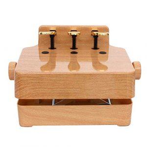 SUPRIEE Banc D'extension De Pédale De Piano pour Enfant Universal Enfants Lift Piano Pédale auxiliaire Booster Pédale for 2/3 pédales Upright Grand Piano électrique (Couleur : Wood, Taille : 38x28cm)