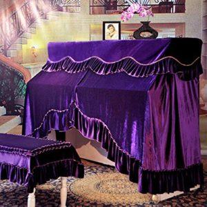 Susulv Housse de Piano Droit Tissu de Protection Anti-poussière Vertical Couverture for Verticale Standard Pianos Anti-poussière Blemish Cover Scratch (Couleur : Violet, Taille : 56x36cm)