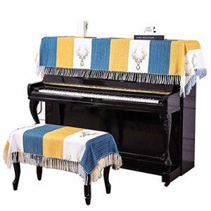 Tabouret Piano Couverture Couverture Dust Piano numérique Piano Nordic Fashion demi Couverture coréenne moderne simple antipoussière souple respirante Serviette de piano avec la couverture Bench