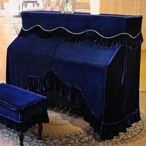 Tissu De Couverture De Piano Complet Tissu de protection anti-poussière vertical couverture for Verticale Standard Pianos anti-poussière Blemish Cover Scratch ( Couleur : Bleu , Taille : 76x36cm )