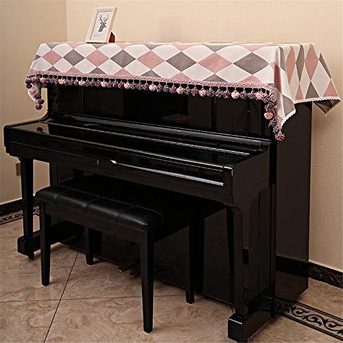 TnSok Housse de Protection Contre la poussière pour Piano Vertical, Simple et Moderne, Tissu, a, Small