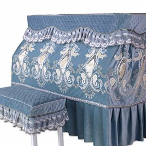 Tollmllom Housse de Protection pour Piano for Standard Piano Droit Parfaitement Flanelle Simple européenne Tissu Anti-poussière épaisse Couverture en Tissu Décoration de Piano