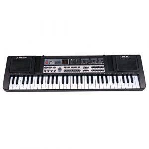 Tosbess Clavier Electronique–61 Touches-Instruments de Musique Jouet pour Enfants–Puzzle Jouet Musical avec Microphone