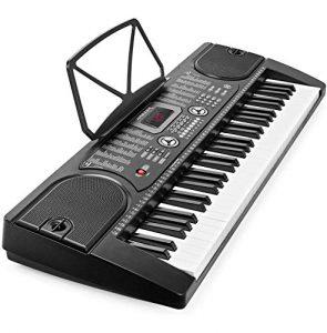TOYSBBS 61 Touches Clavier électronique – Instrument de Musique Portable – Simple à Utiliser – Idéal pour s'initier – Noir