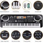 TOYSBBS 61 Touches Piano pour Enfants, Enfants Clavier Piano électrique Clavier Portable Instrument de Musique Jouet Piano pour Garçons Débutants Filles
