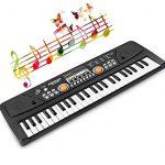 TOYSBBS Clavier de Piano 49 Touches Portable Clavier électronique de Piano avec Microphone et câble USB Keyboard Piano pour Débutant