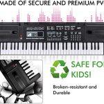 TOYSBBS Clavier de Piano Enfants, Clavier Electronique 61 Touches Piano Jouet Clavier avec Microphone, Chargable Piano, Keyboard Piano pour Enfants Garçon Filles Cadeau